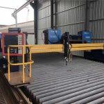 awtomatikong cnc plasma cutting machine doble sa pagmamaneho ng 4m span 15m riles