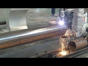 CNC 3 axis plasma apoy pipe umiikot na tubo na pagputol ng bakal na makina