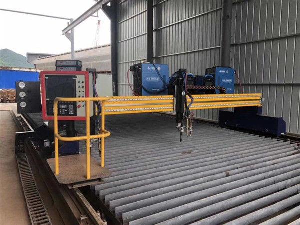 Tsina Malaking Sukat ng CNC Gantry Flame Plasma Cutting Machine