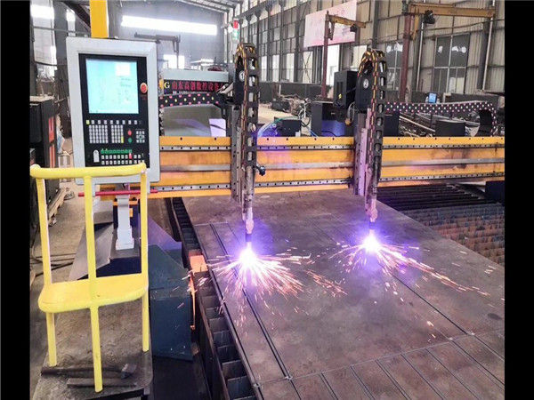 Double Gantry CNC Plasma Cutting Machine H Beam Production Line Hypertherm CNC System
