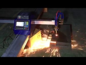 mababang gastos mini portable cnc pipe flame plasma cutting machine para sa pagputol ng metal na hindi kinakalawang na asero
