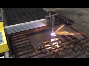 portable cnc flameplasma cutting machine na may hypertherm 45